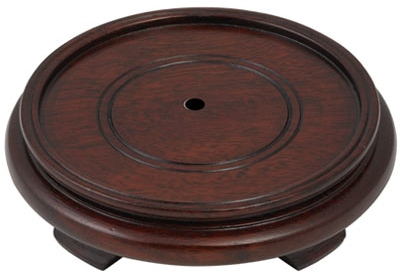 H266 2 Wood Oriental Lamp Bases